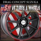 TUNER WHEEL SUZUKA 17X7 4-100/114.3 ET+40 BLK RT  4-100/114.3  HONDA CIVIC  KIA RIO