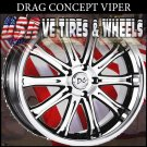 TUNER RIM VIPER 17X7 4-100/114.3 ET+40 BLK MF ML  HONDA CIVIC KIA RIO  KIA SOPHIA