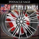 PINNACLE SAGE 20X8.5 5.108/114.3 ET+40 BLK MF FORD TAURUS  CHEVY MONTECARLO