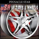 CHROME RIMS PINNACLE STAR 17X7.5 5-114.3/108 ET+40 JAGUAR S TYPE  DODGE ADVANGER