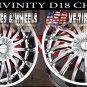 DIVINITY D18 18X7.5 5.110/114.3 ET+40 CHR  PONTIAC G6 CHEVY MALIBU SAAB