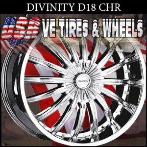 DIVINITY D18 22X9.5  6.127/135 ET+35 CHR CHEVY TRAILBLAZER  FORD F150