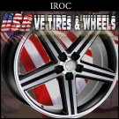 BLACK MACHINE RIMS IROC 22X9.5 5.127 ET+12 BLK MF   CHEVY TAHOE 2WD  CHEVY IMPALA SS