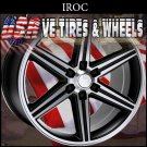 IROC BLACK WHEELS 24X10 6.139.7 ET+12 BLK MF   CHEVY TAHOE  GMC YUKON