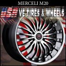 MERCELI M20 22X9.5 6.139.7 ET+18 BLK MF SSL  CHEVY TAHOE  GMC YUKON