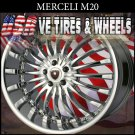 MERCELI M20 22X9.5 6.139.7 ET+18 CHROME  CHEVY TAHOE GMC YUKON
