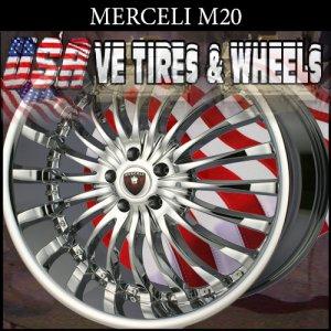 MERCELI M20 22X9.5 5X115 ET+15 CHROME  DODGE CHARGER  CHRYSLER 300C