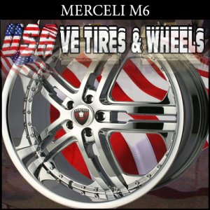 MERCELI M6 22X8.5  5X114.3 ET+35 CHROME RIMS  CHEVY IMPALA  KIA OPTIMA  MAXIMA