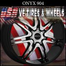 ONYX 904 28X9.5  BLANK ET+15 BLK MF RIMS  CUSTOM DRILLING