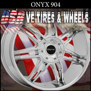 ONYX 904 22X9 BLANK ET+15 CHROME CUSTOM WHEELS DRILL