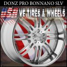 DONZ BONNANO STAGGERED WHEELS 22X9 ET+20 22X10. ET+23 SILVER SSL