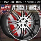 DONZ BONNANO STAGGERED WHEELS 22X9 ET+20  22X10.5 BLANK ET+23  DRILL FOR MOST CARS