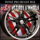 DONZ BUGZY 2-20X8.5 BLANK ET+20  2-20X10 BLANK ET+23 BUGZY  BLK SSL  CUSTOM DRILL FOR MOST VEHICLES
