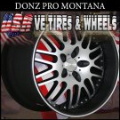 DONZ MONTANA 2-20X8.5 BLANK ET+20 FLT BLK MF ST CUSTOM DRILL FOR MOST VEHICLES