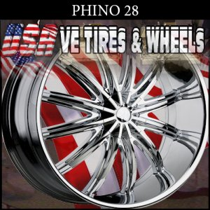 PHINO28 28X10 5X115/120 ET+13 CHROME WHEELS  DODGE CHARGER  CHRYSLER 300C