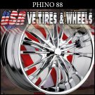 PHINO 88 24X10 6.135/139.7 ET+30 CHROME RIMS   LINCOLN NAVIGATOR  CHEVY TAHOE