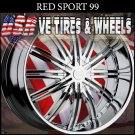 REDSPORT 33 24X9.5 6.135/139.7 ET+30 CHROME RIMS  LINCOLN NAVIGATOR  CHEVY TAHOE