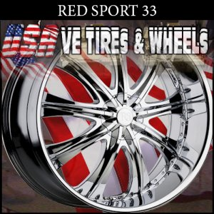 REDSPORT 33 24X9.5 5.115/120 ET+13 CHROME  CHRYSLER 300C  BUICK REGAL