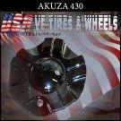 AKUZA 430 CHROME CAP For Adana   Wheels     PANTHER  AKUZA CAPS