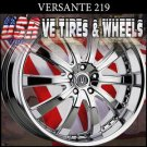 "VERSANTE 219 22"" CHROME WHEELS  & TIRES  DODGE AVENGER CADILLAC CTS KIA OPTIMA"
