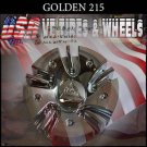 GOLDEN 215  CHROME CAP    WHEELS         #mc215n101