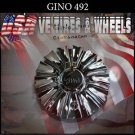 GINO 492    CHROME CAP    WHEELS         #C105602-CAP-492      BONNETTI CAPS