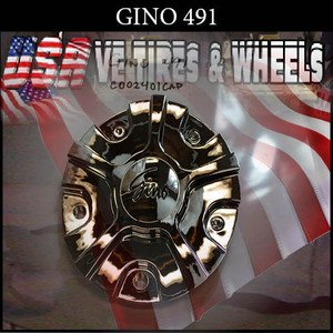 GINO 491    CHROME CAP    WHEELS         #C002401-CAP  BONNETTI CAPS