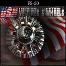 F5-RACING 50    CHROME CAP    WHEELS         #F5-50/CF55002  VELOCITY  U2  TYFUN