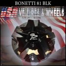 BONETTI 81 CAP CHROME BLK CENTER        #C5187-1CPA/C5187-2CP