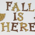 Autumn Fall Theme Chipboard Alphabet Letter, Leaves Set 60 pcs