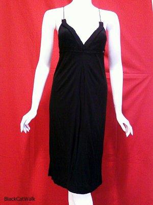 MISS SIXTY Black Spaghetti Strap V-Neck Dress - Size Medium