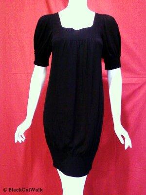 BCBG MAX AZRIA Black Short Sleeve Knit Dress - Size Extra Small