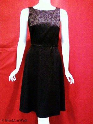CDC Black Jacquard Sleeveless Informal Dress - Size 4