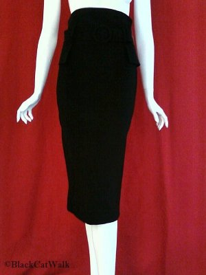*NWT* LAPIS Black High-Waist Pencil Skirt - Size Extra Small