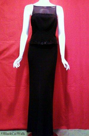 JONES NEW YORK EVENING Black Full-Length Gown - Size 6