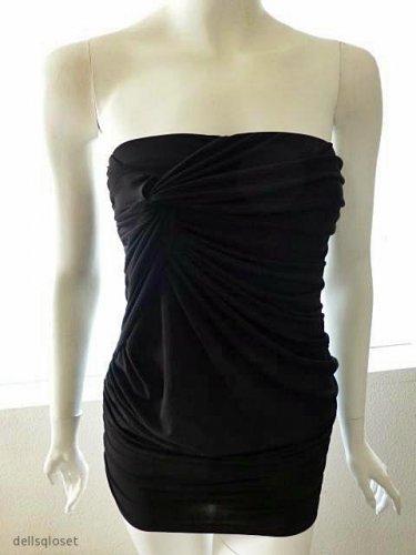 MODA INTERNATIONAL/VICTORIA'S SECRET CATALOG Sexy Black Strapless Dress - Small