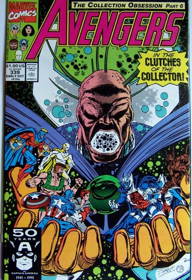 Avengers Comic Book - No. 339 - October 1991