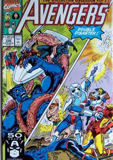 Avengers Comic Book - No. 336 - August 1991