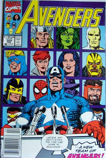 Avengers Comic Book - No. 329 - February 1991