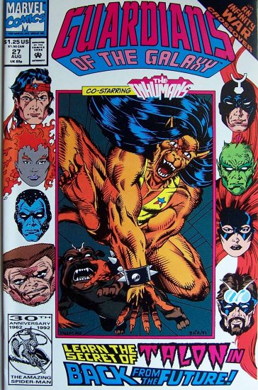 Guardians of the Galaxy Comic Book - No. 27 - August 1992