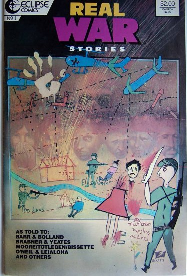Real War Stories Comic Book - No. 1 - July 1987