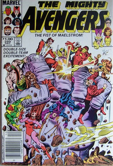 The Mighty Avengers Comic Book - No. 250 - December 1984