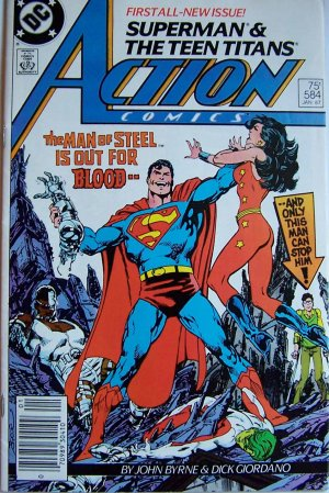 Action Comics Comic Book - No. 584 - January 1987