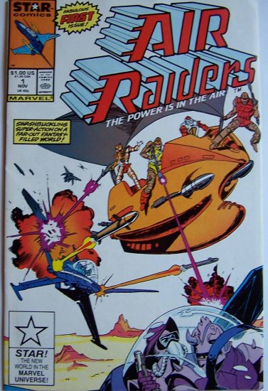 Air Raiders Comic Book - No. 1 November 1987
