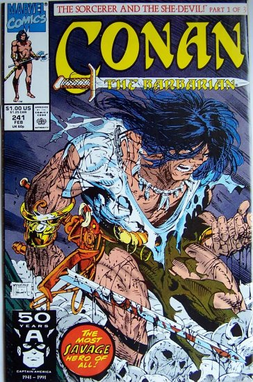 Conan The Barbarian Comic Book - No. 241 February 1991