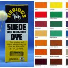 Fiebings Suede & Roughout Dye with Applicator Nubuck Leather Shoes Boots Bag 4oz Blue Color