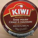 Kiwi Shoe Polish Leather Boot Shine Paste Protector Large Can 2.5 oz. Brown Color