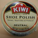 Kiwi Shoe Polish Leather Boot Shine Paste Protector Large Can 2.5 oz. Nertral Color