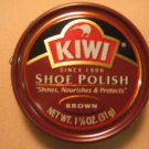Kiwi Shoe Boot Polish Shine Leather Paste Protector 1 1/8 oz. Can Brown Color