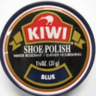 Kiwi Shoe Boot Polish Shine Leather Paste Protector 1 1/8 oz. Can Navy Blue Color